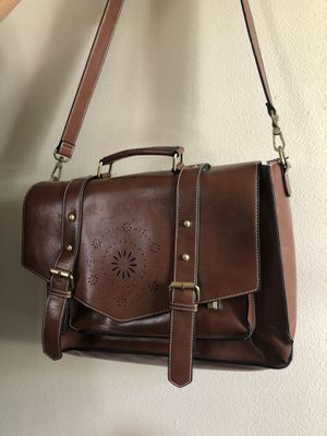 Laptop messenger bag faux leather for Sale in Gardena, CA