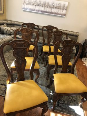 Six Wooden Dining chairs for Sale in Roswell, GA