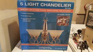5 light chandelier for Sale in Hayward, CA
