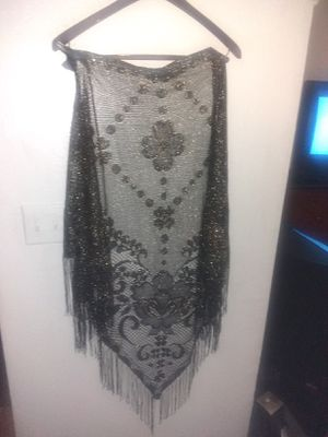 Black with silver shawl for Sale in Las Vegas, NV