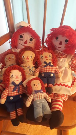 Raggedy ann and andy dolls for Sale in Acton, IN