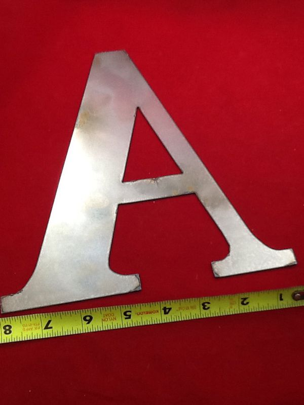 Classic metal letter A.