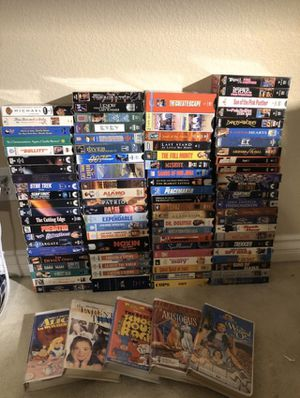 Lot of (90) 80's90's Vintage VHS Tapes for Sale in San Diego, CA