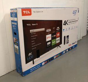 TCL 49 INCH 4K HDR ROKU SMART TV! Delivery available, 6 month guarantee. for Sale in Phoenix, AZ