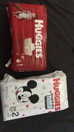 Huggies size 1 and 2 for Sale in Phoenix, AZ