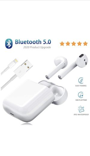 Bluetooth 5.0 True Wireless Earbuds with Charging Case Waterproof for Sale in Fresno, CA