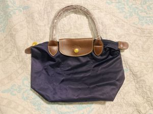 Small navy blue long champ style tote bag for Sale in Arlington, VA