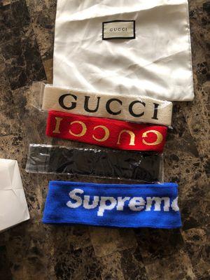Gucci/supreme headbands for Sale in Hyattsville, MD