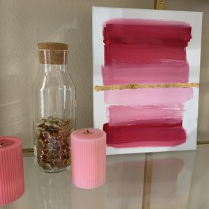 Pink acrylic canvas handmade painting for Sale in Lubbock, TX