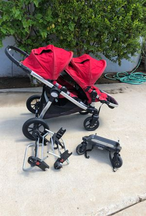 City Select Double with Peg Perego car seat attachment and glider board for Sale in Bonita, CA