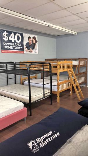 BUNK BEDS metal and wood!! 💥🛌🚨 Low price great quality!!! for Sale in Lakewood, OH