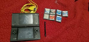 DSI with 6 games and case(missing r button and pearl is sold already) for Sale in Las Vegas, NV