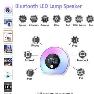 Wake Up Light Bluetooth Speaker, Table Lamp Alarm Clock, Night Light Bluetooth Speakers Lamp for Sale in Winston-Salem, NC