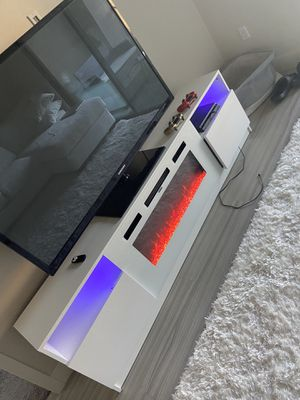 Tv stand with fireplace for Sale in Scottsdale, AZ