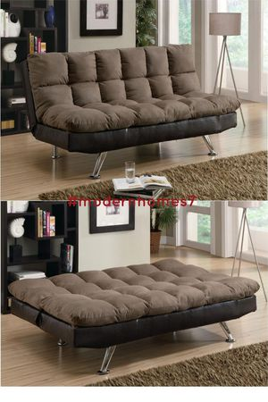 Super comfortable sofa bed sleeper couch futon , grey or brown available for Sale in Rancho Cucamonga, CA