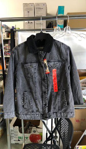 Levi's Women Black Denim Jacket Medium for Sale in Industry, CA
