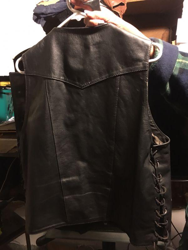 Men's Xl Street&Steel motorcycle cycle vest $70 bucks