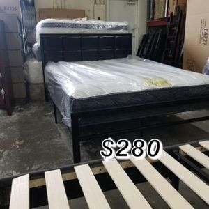 Queen bed frame and mattress included for Sale in Torrance, CA