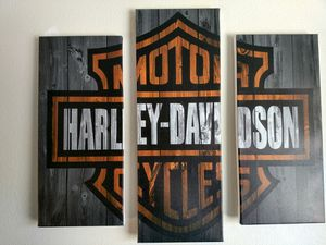 Harley Davidson canvas picture for Sale in Chelan, WA