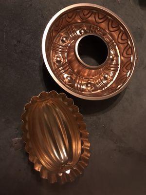 Jello/Cake Pans-Copper for Sale in Houston, TX