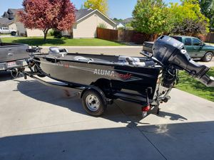 2018 - 16 ' alumacraft escape 165 with Yamaha 50 hp plus for Sale in Nampa, ID
