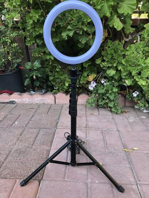 """8"""" Selfie Ring Light with Tripod Stand & Cell Phone Holder for Live Stream/Makeup, Mini Led Camera Ringlight for YouTube Video/Photography C for Sale in Los Angeles, CA"""