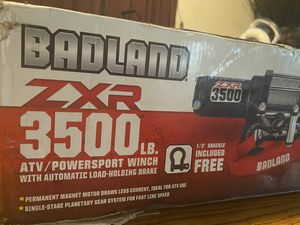 Brand new badland zxr 3500lb atv/power sport winch with automatic load-holding brake for Sale in Portland, OR