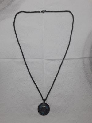 24 inch black stainless steel rope chain style chain with round charm. Great piece. 90 obo for Sale in Mechanicsburg, PA