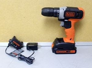 Black & Decker BCD702 10mm Drill/Driver with 20v Battery and Charger for Sale in Lauderhill, FL