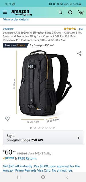 Lowepro slingshot edge 250 AW camera bag for Sale in Biscayne Park, FL