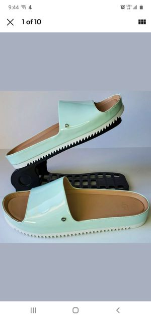 UGG Womens Jane Patent Platform Slide Sandals US 7 Agave Glow Green 1101071 NEW for Sale in Los Angeles, CA