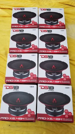 Ds18 Pro audio Voice speakers midrange Loud !!Brand new $30 Each (1)/Bocinas para la voz fuerte $30 Cada una (1) for Sale in Houston, TX