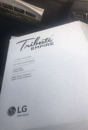 """LG second generation """"tribute empire"""" *unlocked for any service* for Sale in Davenport, IA"""
