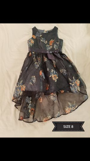 GIRL PRETTY FLOWERED DRESS- SIZE 8 (LIKE NEW) for Sale in Norco, CA