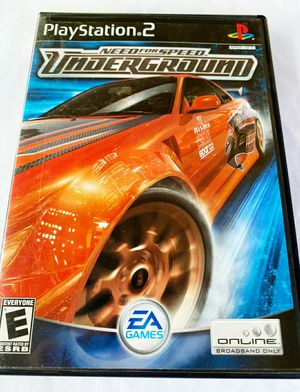 Need for Speed⚡Underground - Sony PlayStation 2 (PS2) w/ Booklet !! 🚘 for Sale in Tampa, FL