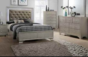 BRAND NEW 4 PC TWIN FULL QUEEN SIZE BEDROOM SET BED DRESSER MIRROR NIGHTSTAND NEW FURNITURE ADD MATTRESS AVAILABLE USA MEXICO FURNITURE for Sale in Riverside, CA