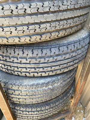 St235/80/16 TRAILER TIRES 10ply USED SET for Sale in Arlington, TX