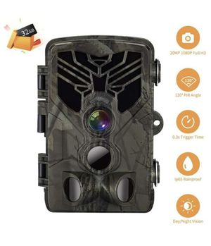 2020 Upgrade Trail Game Camera, PHOCOENA 20MP 1080P Waterproof Hunting Scouting Cam with Night Vision, 80FT Trigger Distance, 120° Wide Angle Lens, 3 for Sale in Chicago, IL