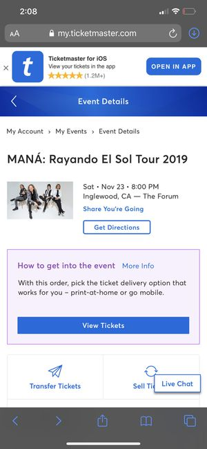 Maná Tickets (4 tickets) for Sale in Downey, CA
