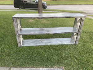 Solid wood farm house tv console or entry table for Sale in Humble, TX