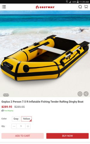 Goplus 2 Person 7.5 ft Inflatable Fishing Tender Rafting Dinghy Boat for Sale in Lakewood, CA