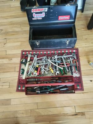 "Used hand Tools, a tape measure, 4 impact sockets , 2 pieces 3"" extension, 10 pliers, 24 wrenches, I small hammer. All in a handy box. for Sale in Silver Spring, MD"