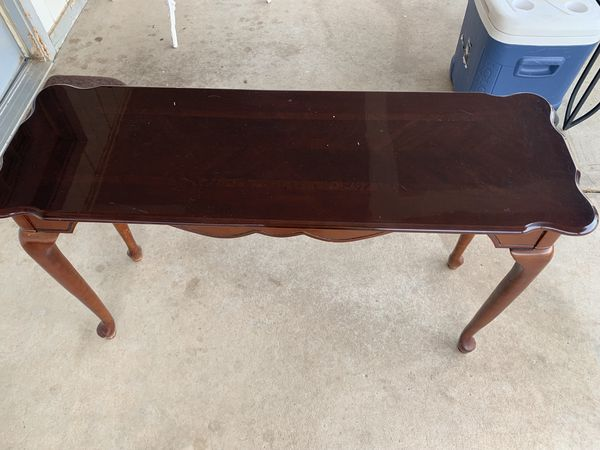 Red Wood Living Room End Table