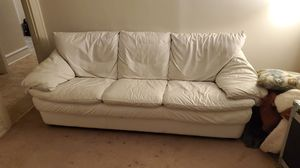 White leather couch for Sale in Perkasie, PA