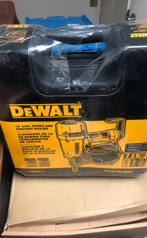 Dewalt fencing nail gun, new in box. for Sale in Detroit, MI