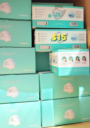 Disposable masks/ cubrebocas BOX 50pcs $15 for Sale in Long Beach, CA