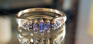 ❤Stunning 14K yellow gold tanzanite and diamond ring size 9❤ for Sale in Lake Stevens, WA