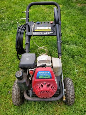 HONDA Karcher 3000 psi pressure washer for Sale in Seattle, WA