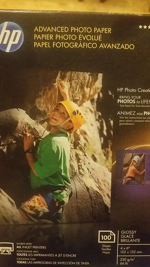 HP Photo Paper for Inkjet for Sale in Fort Worth, TX
