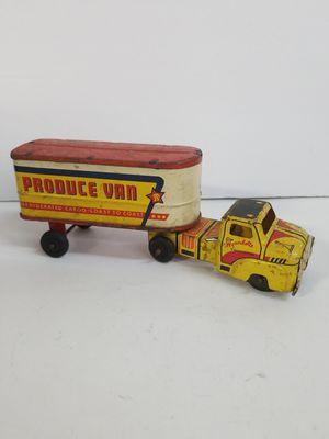 VINTAGE 1950'S PRESSED STEEL WYANDOTTE SEMI TRUCK & TRAILER,REFRIGERATED PROCUCE TRAILER for Sale in Homestead, FL